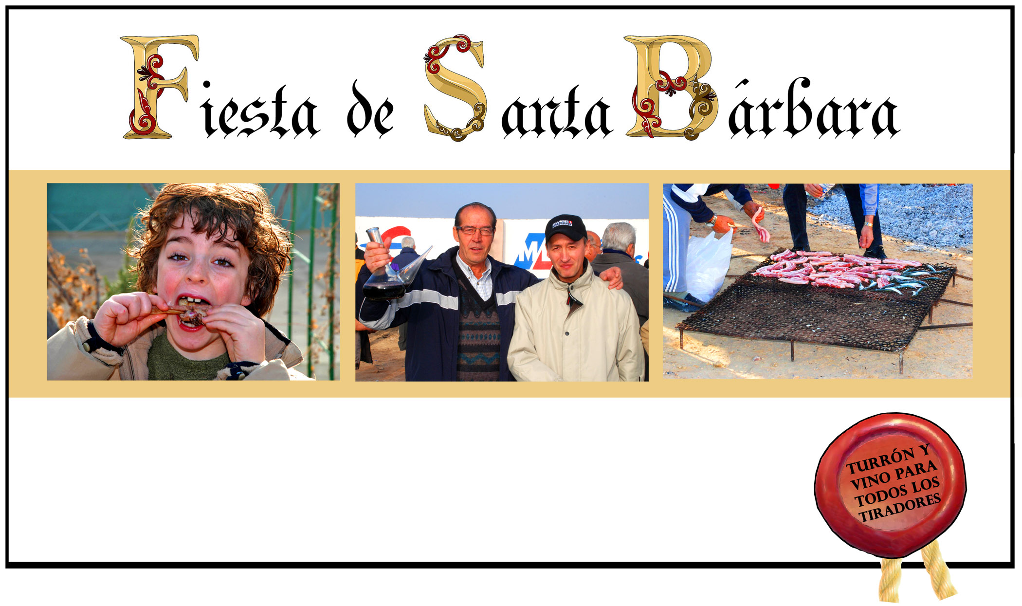 VEN A LA FIESTA DE SANTA BARBARA