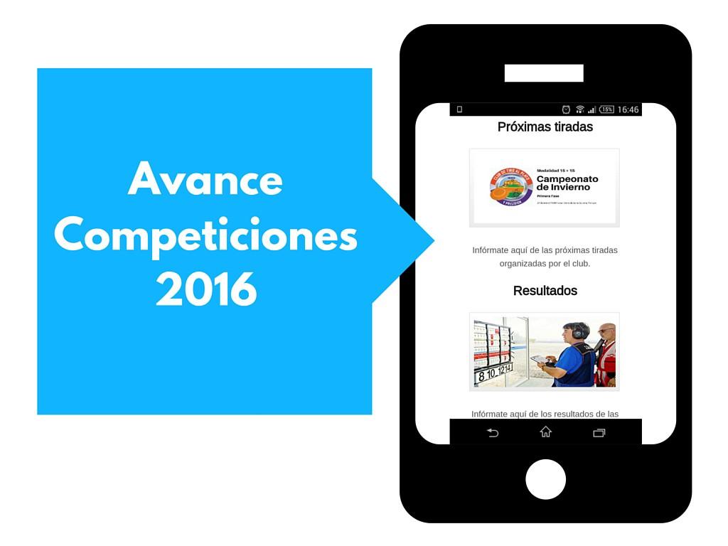 AVANCE DE COMPETICIONES 2016