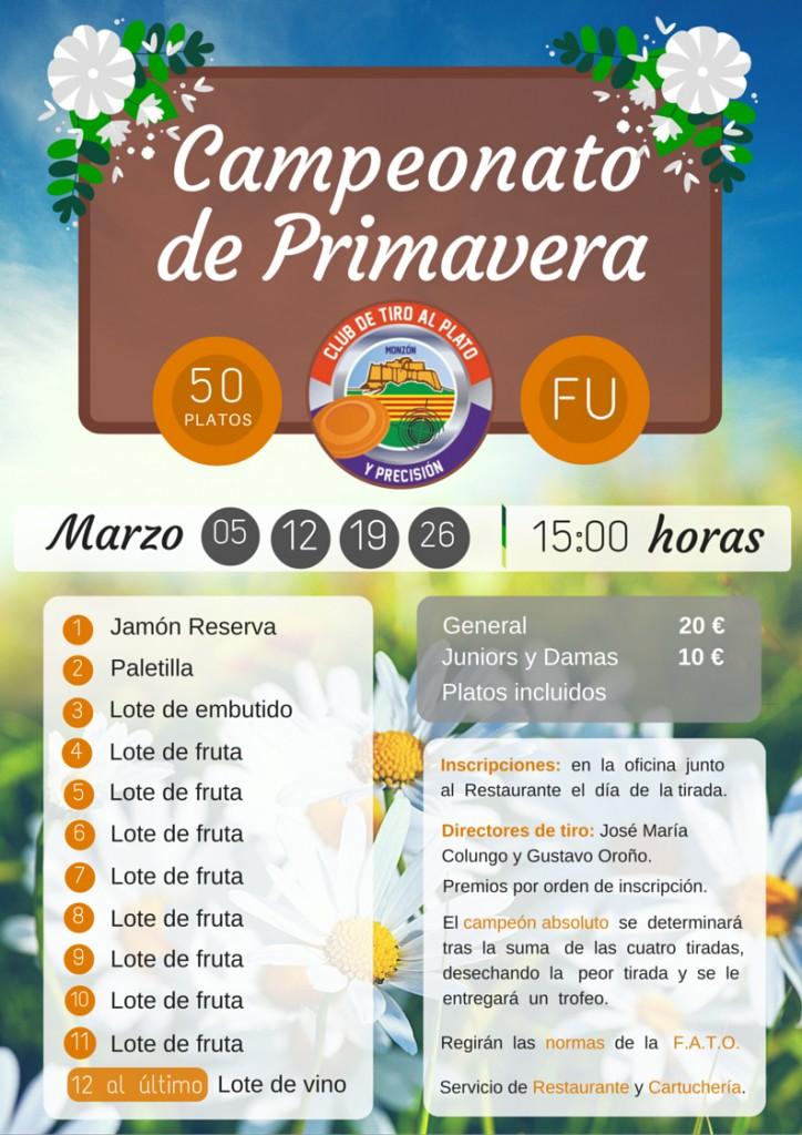 CAMPEONATO DE PRIMAVERA MODIFICADO 2016