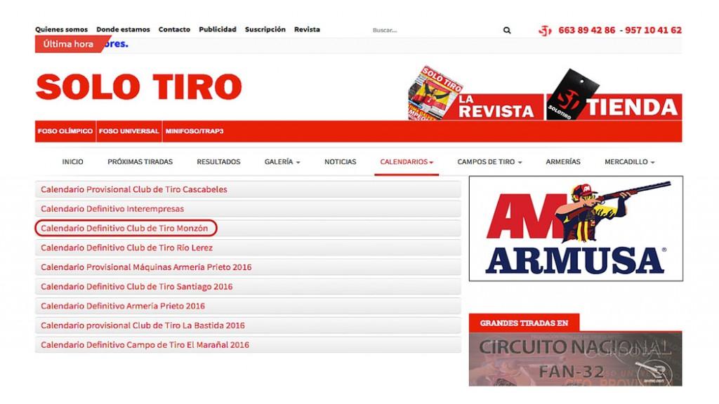 CLUB DE TIRO AL PLATO MONZON CALENDARIO DISPONIBLE YA EN SOLO TIRO